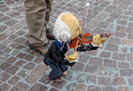 ヴァイオリン演奏の操り人形